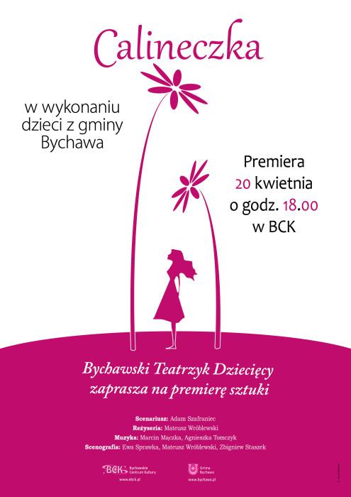 2016-04-14 calineczka plakat teatrzyk dziecięcy
